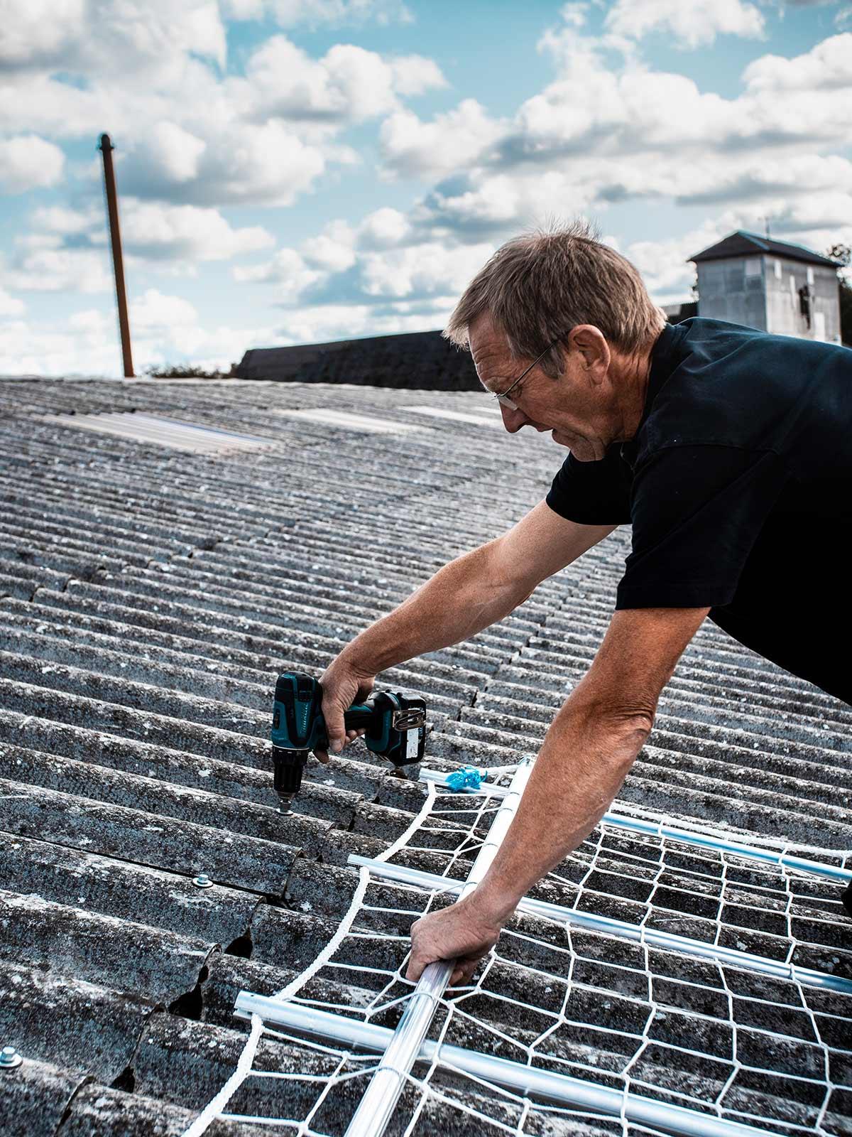 Ungå ulykker på taget - ungå faldulykker med net-op sikkerhedsnet
